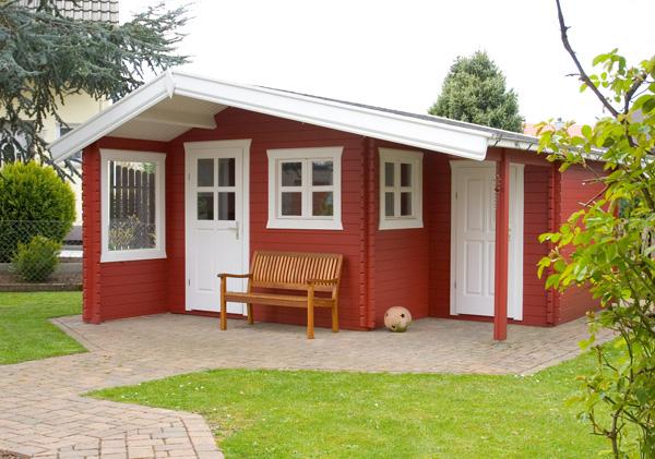 gartenhaus mit individuellem anstrich vom fachmann. Black Bedroom Furniture Sets. Home Design Ideas